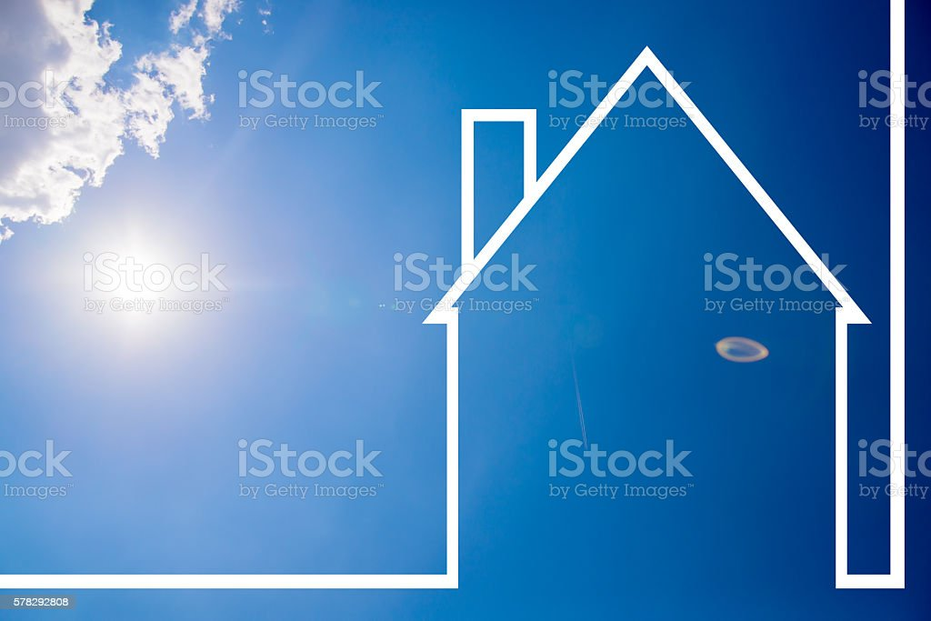 solar power, real estate concept, Fuel Cell, Environment stock photo