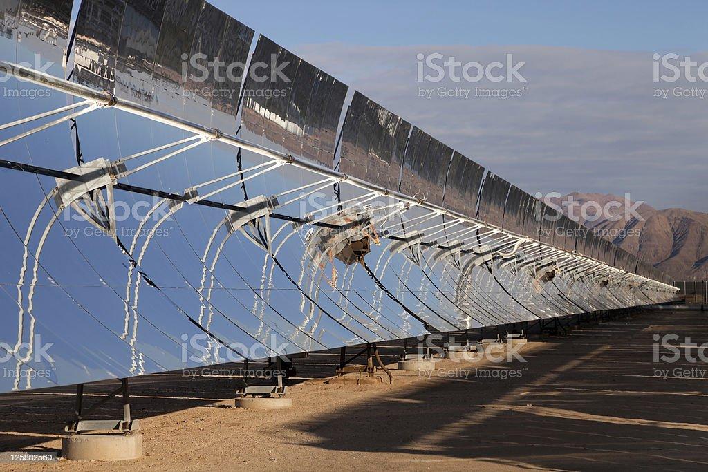 Solar power reflectors stock photo
