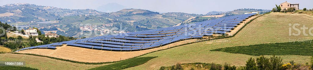 Solar power station royalty-free stock photo