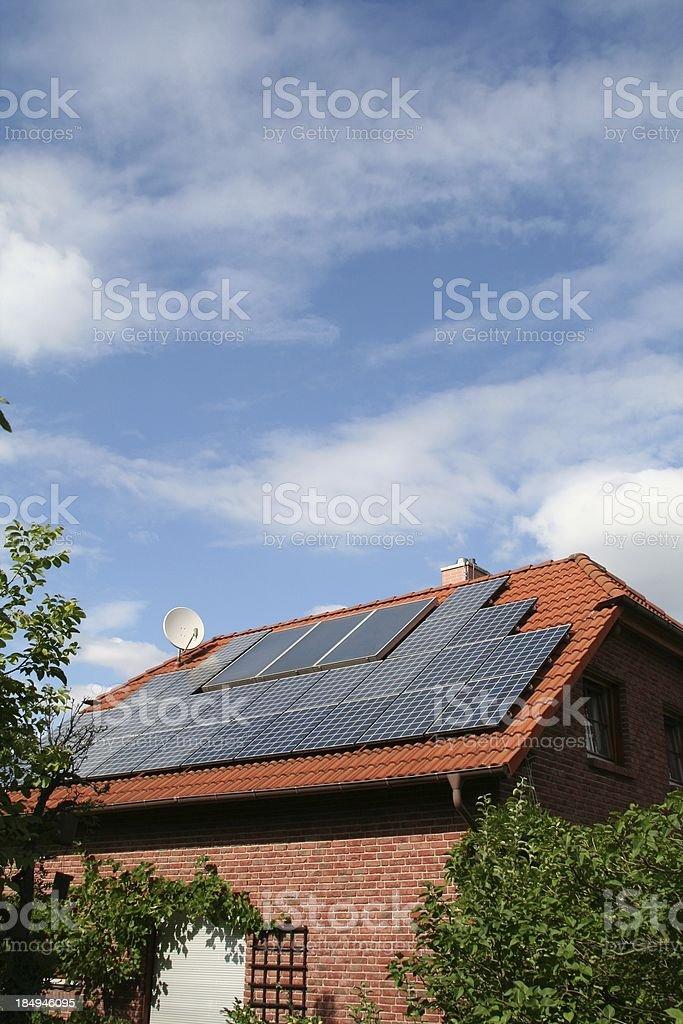 Solar powered 6 stock photo