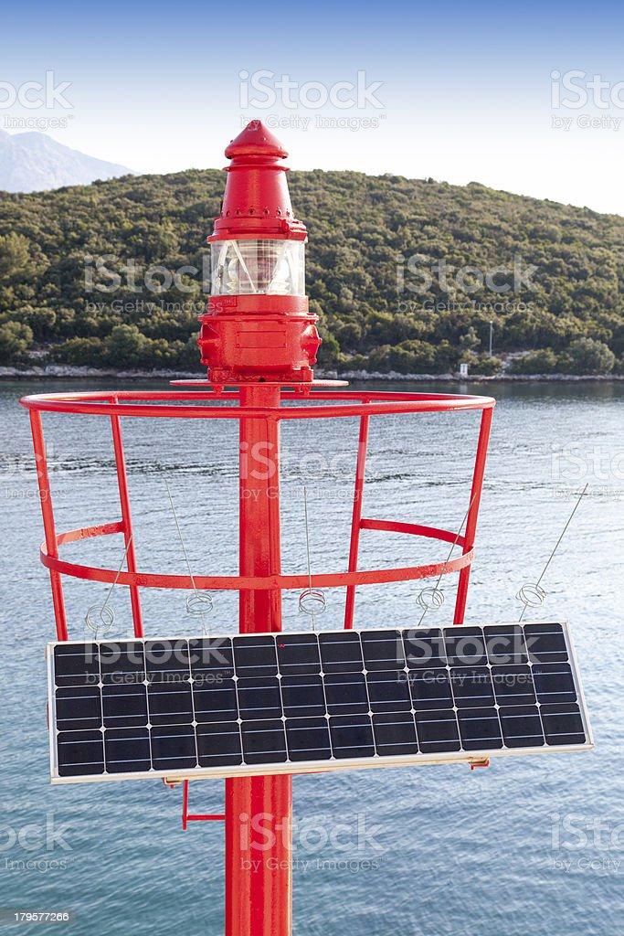 Solar powered Beacon on the isle stock photo