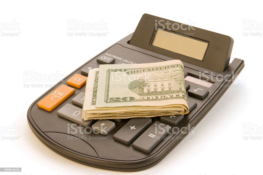 Solar Powered Calculator royalty-free stock photo