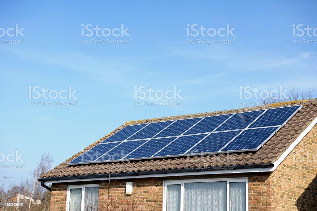 Solar Powered Eco Friendly House stock photo