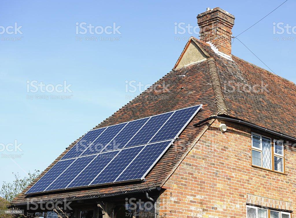 Solar Powered Environmentally Friendly House stock photo