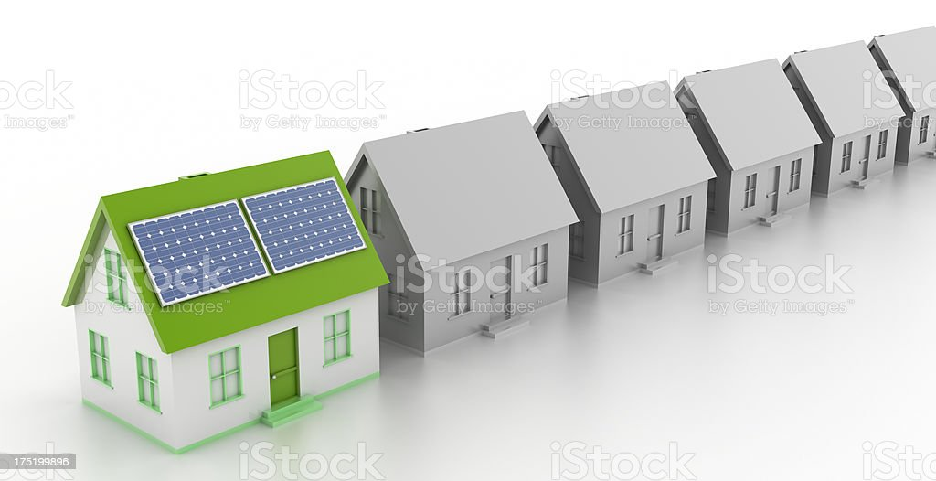 Solar Powered House royalty-free stock photo