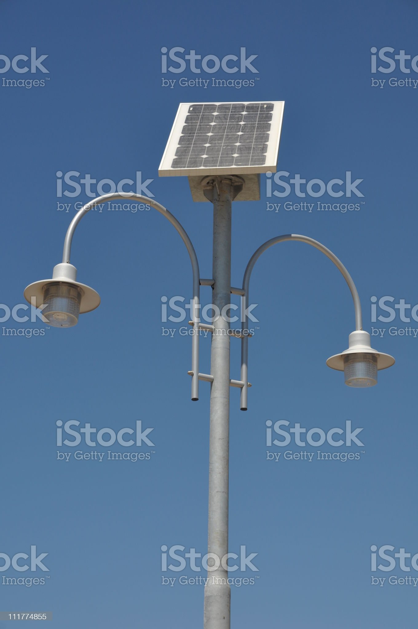 Solar powered lamp post royalty-free stock photo