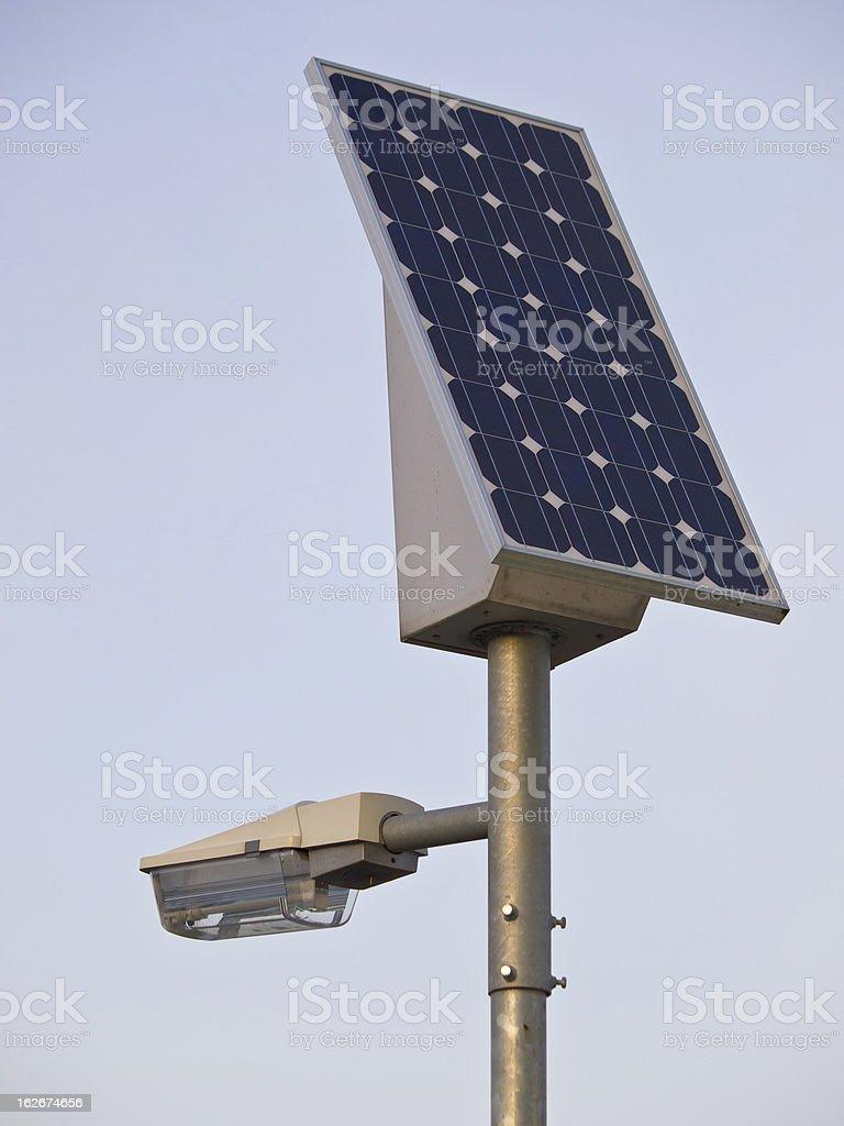 solar powered lamp post royalty-free stock photo