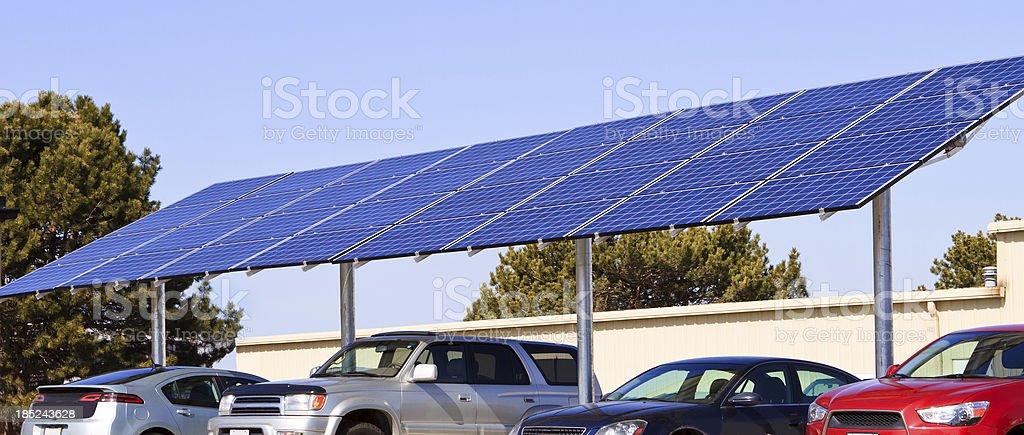 Solar powered panel royalty-free stock photo
