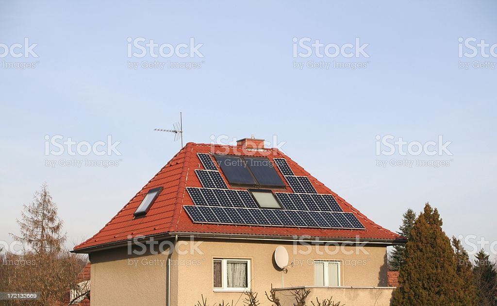 Solar Powered stock photo