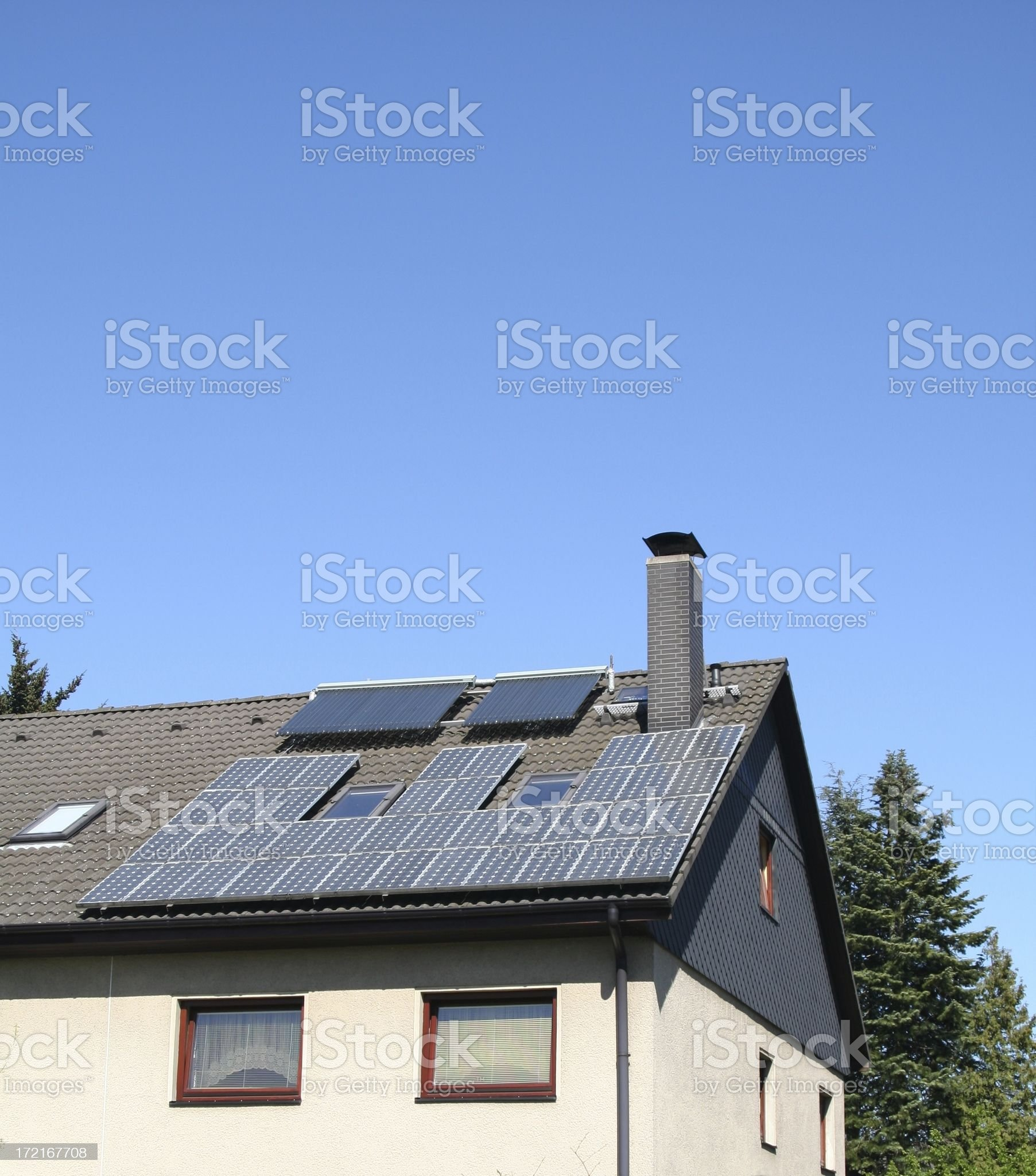 Solar powered royalty-free stock photo