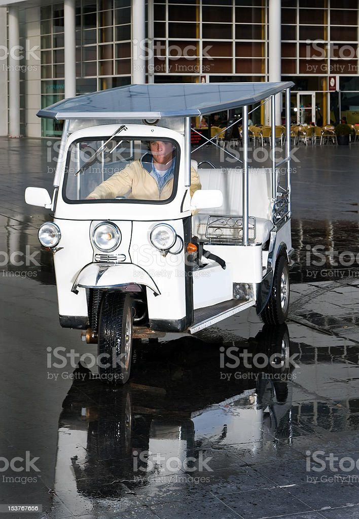 Solar powered tuctuc stock photo