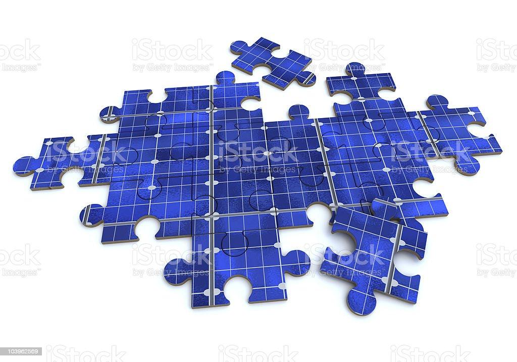 Solar puzzle royalty-free stock photo