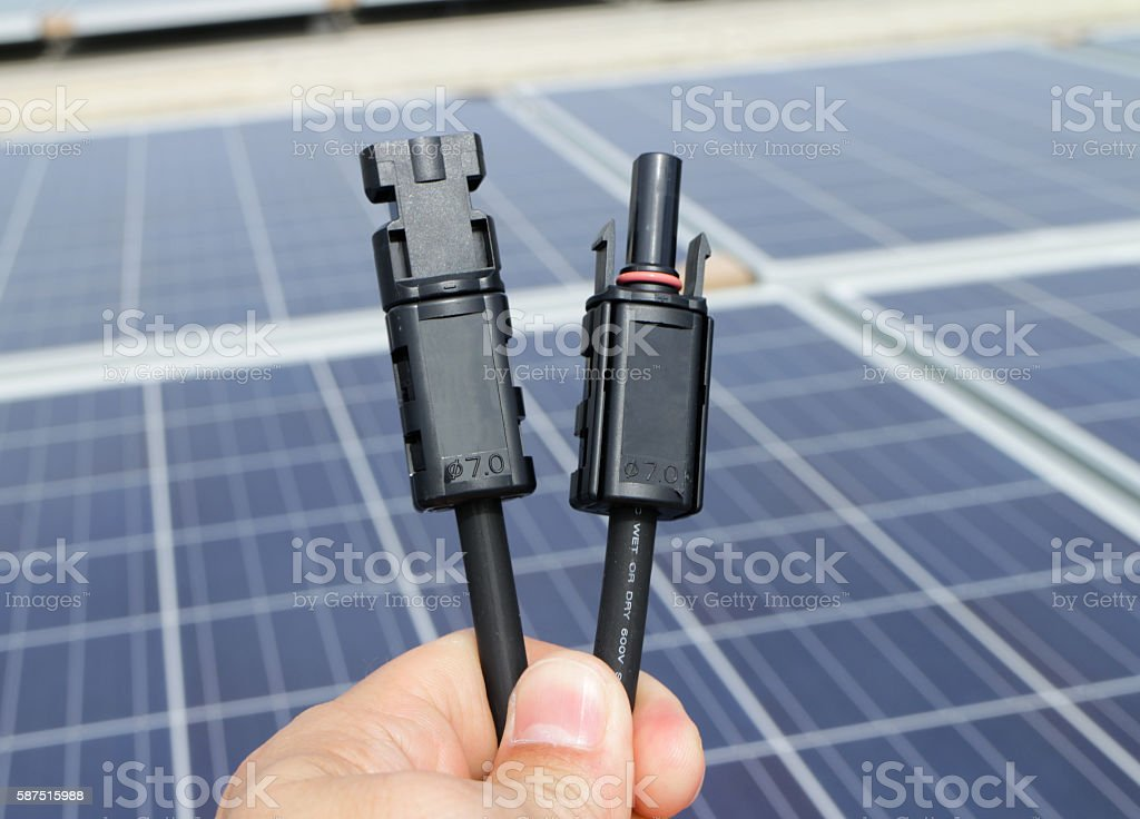 Solar PV Connectors stock photo
