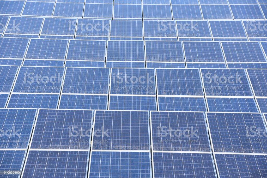 Solar roof panels stock photo