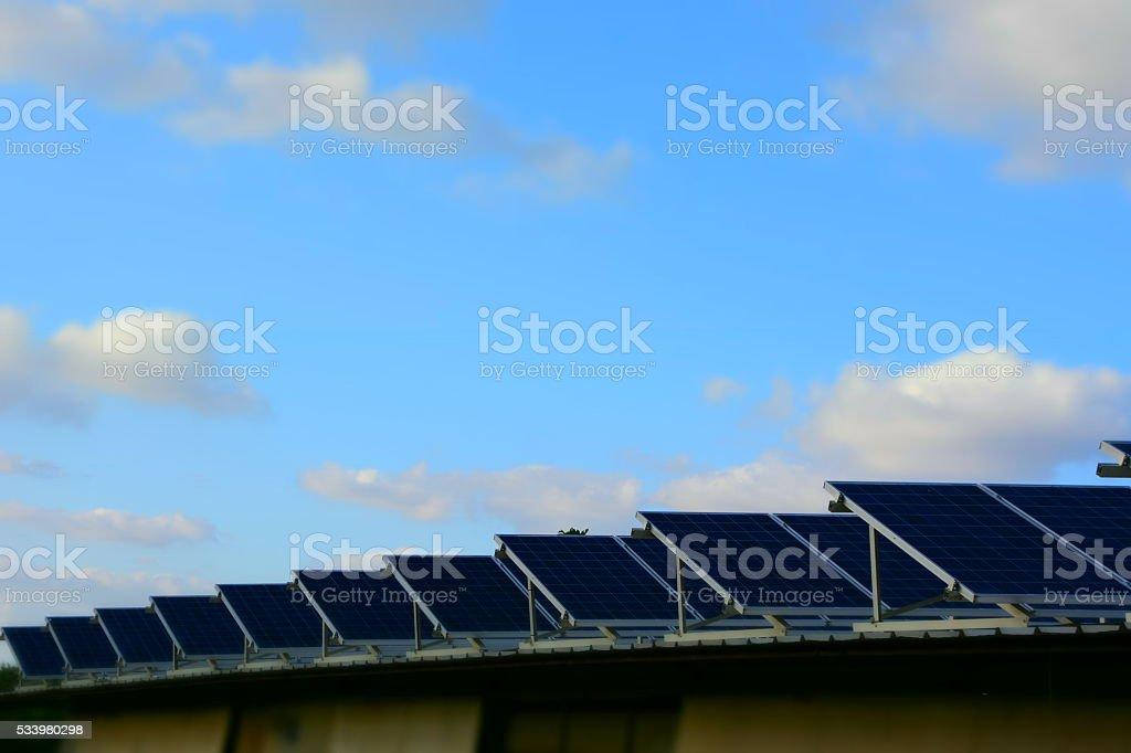 Solar roof stock photo