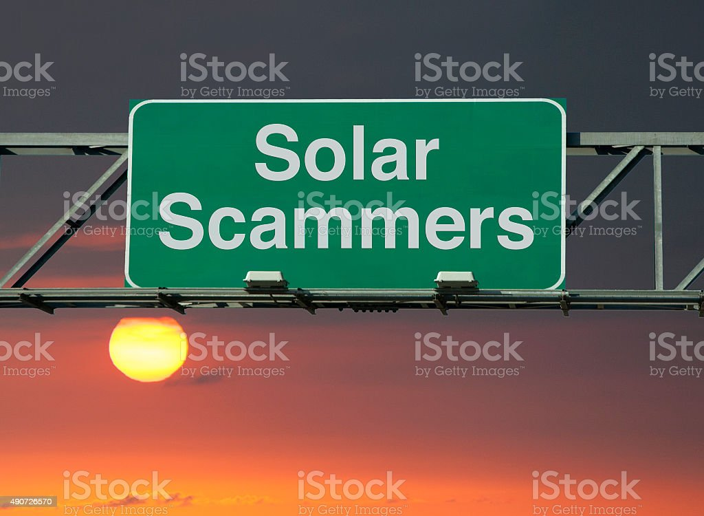 Solar Scammers stock photo