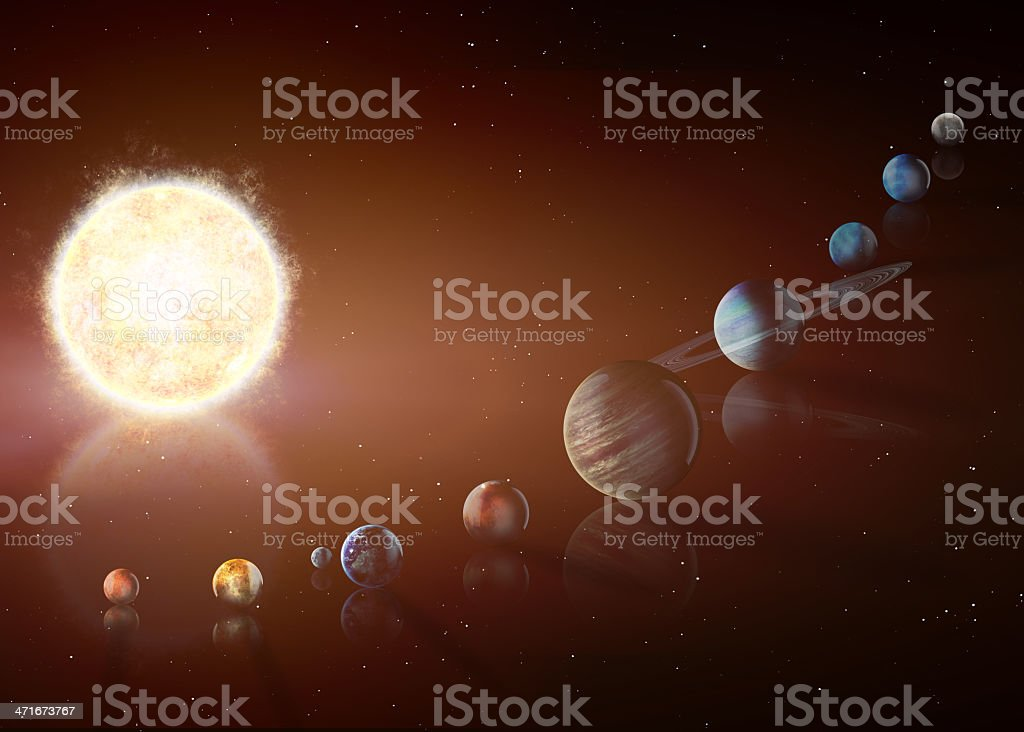 Solar system. Elements of this image furnished by NASA stock photo