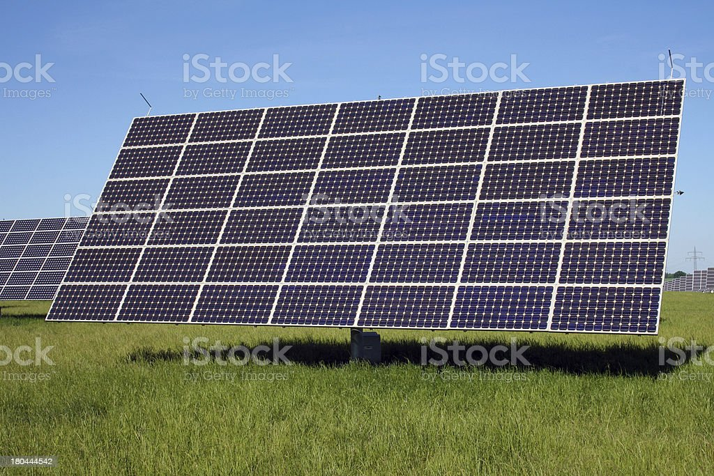 solar system on green meadow royalty-free stock photo