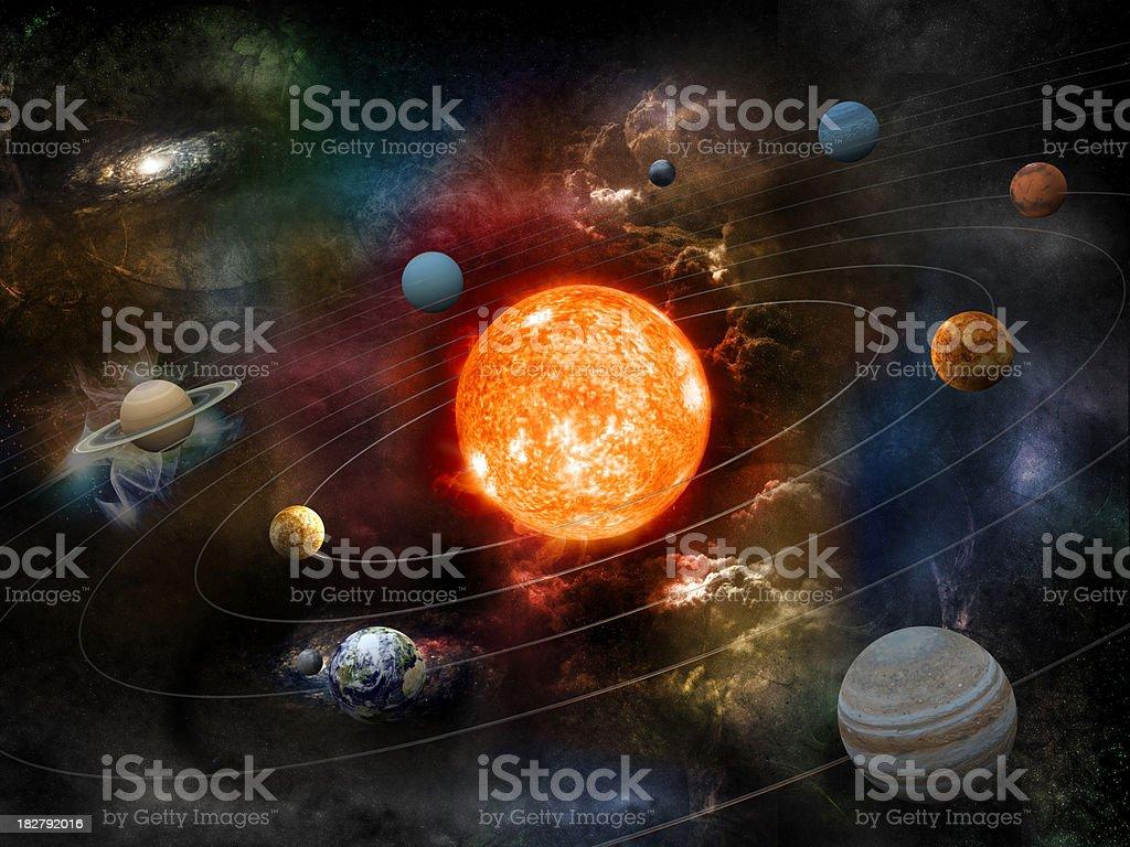 Solar system stock photo