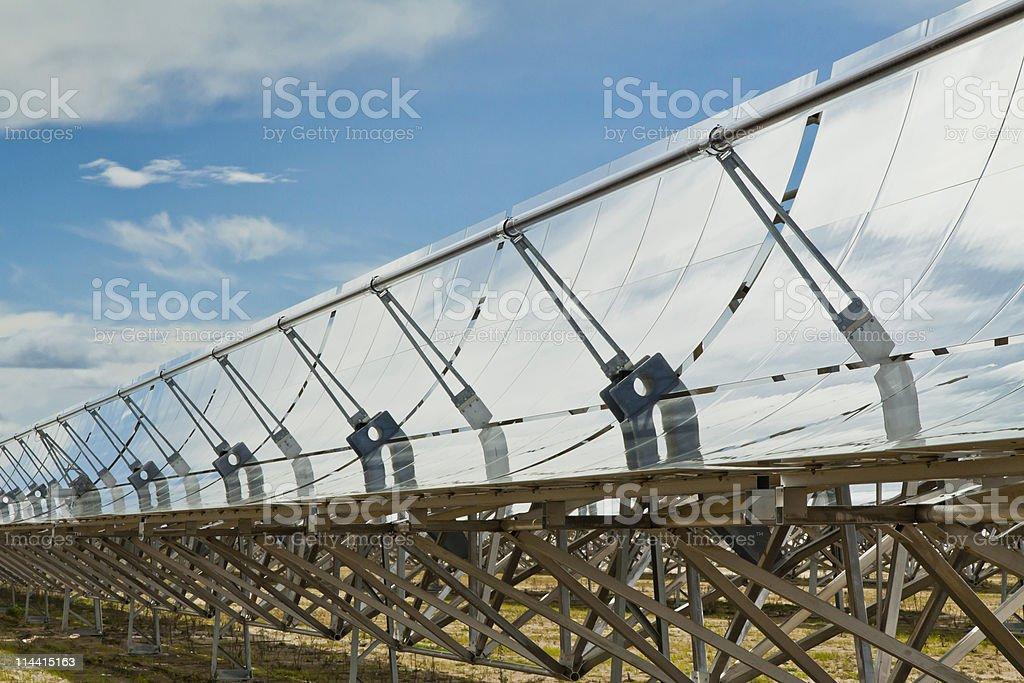 Solar Thermal Energy Field stock photo
