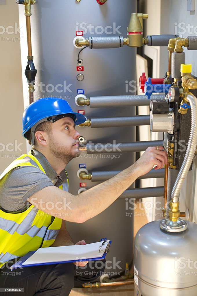 solar thermal engineer royalty-free stock photo
