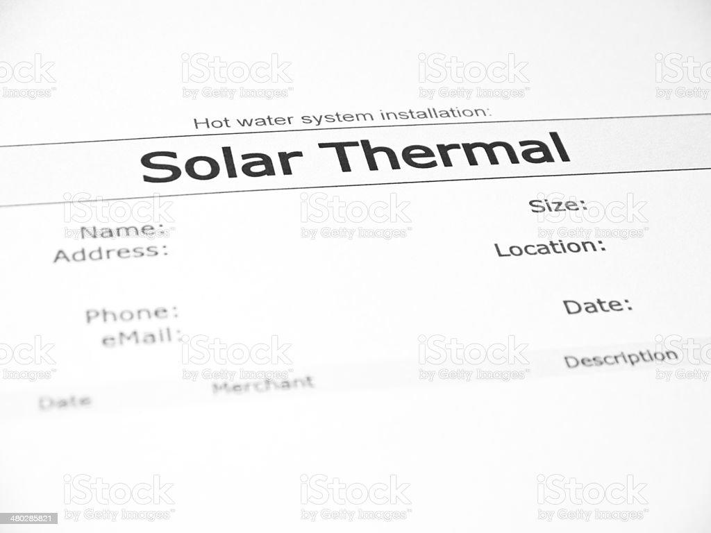 Solar Thermal stock photo