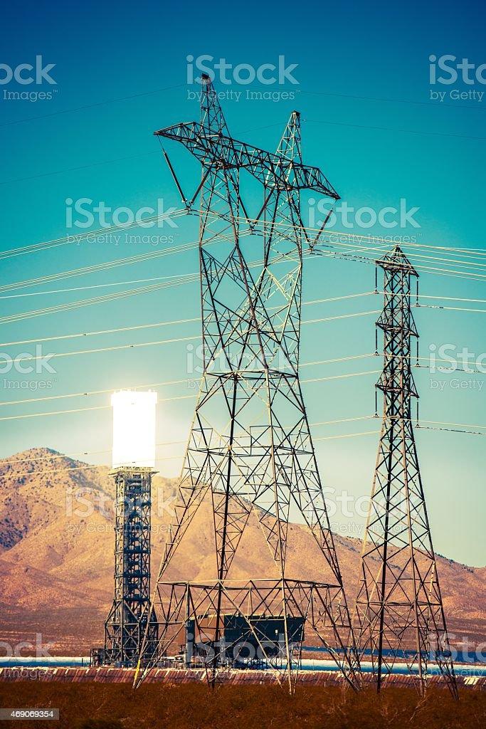 Solar Thermal Power Plant stock photo