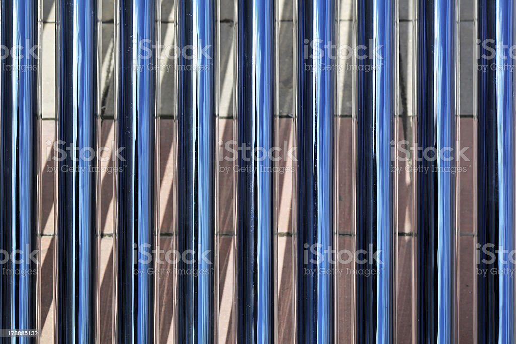 Solar water pipes royalty-free stock photo