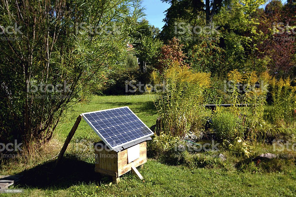 Solarcell in garden royalty-free stock photo