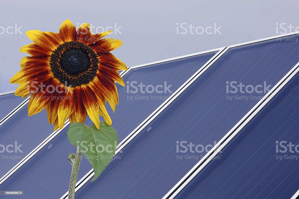 Solarenergie und Natur stock photo