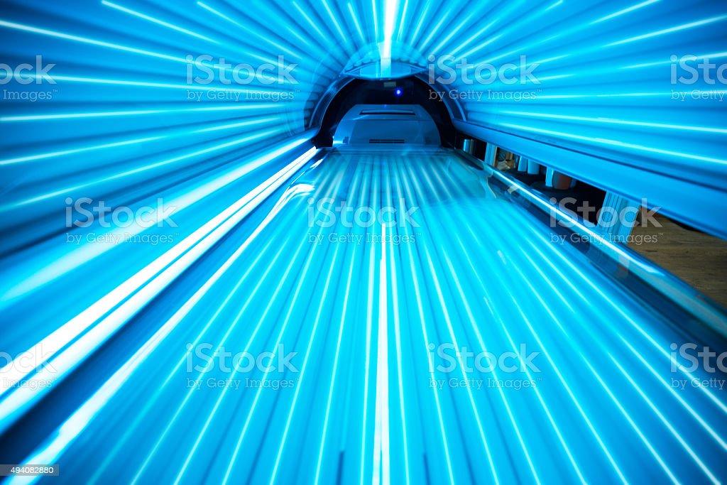 Solarium tanning bed stock photo