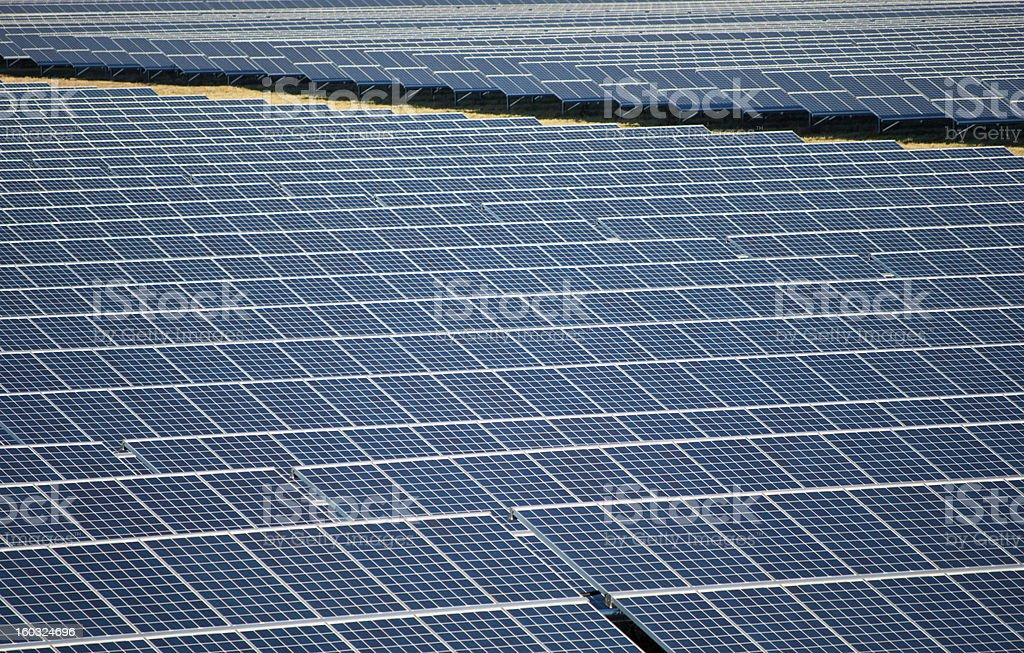 Solarpanels in a solarpark stock photo