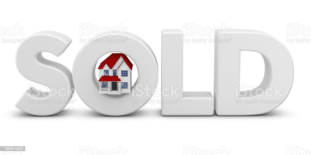 Sold and House royalty-free stock photo