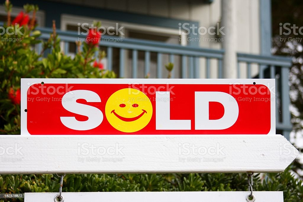 Sold California real estate sign royalty-free stock photo