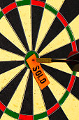 Sold. Darts with dart which was pinned a sheet of