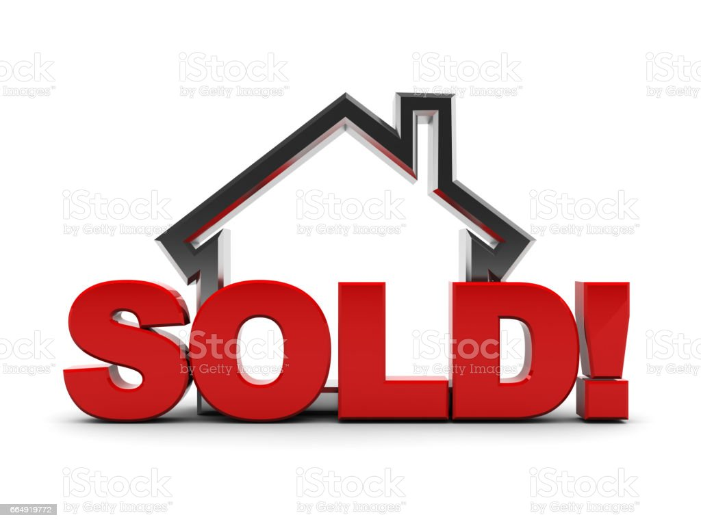 sold house stock photo