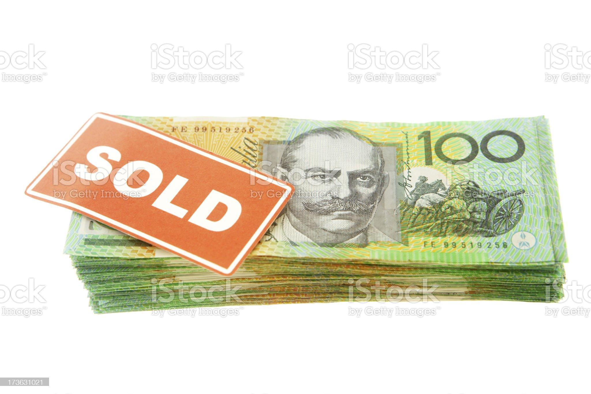 Sold Money royalty-free stock photo