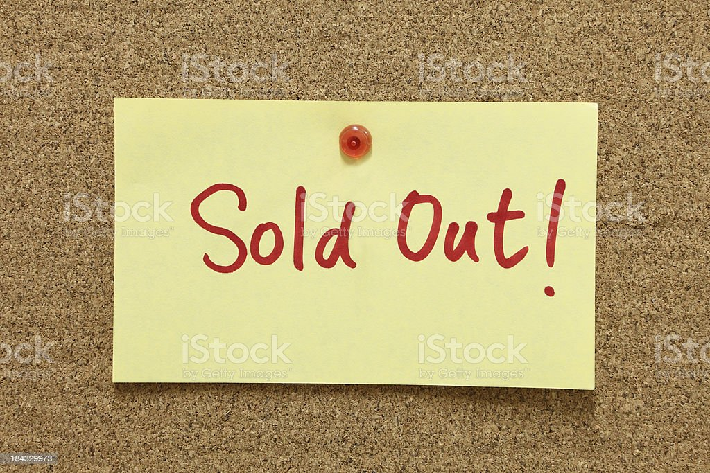 Sold Out royalty-free stock photo