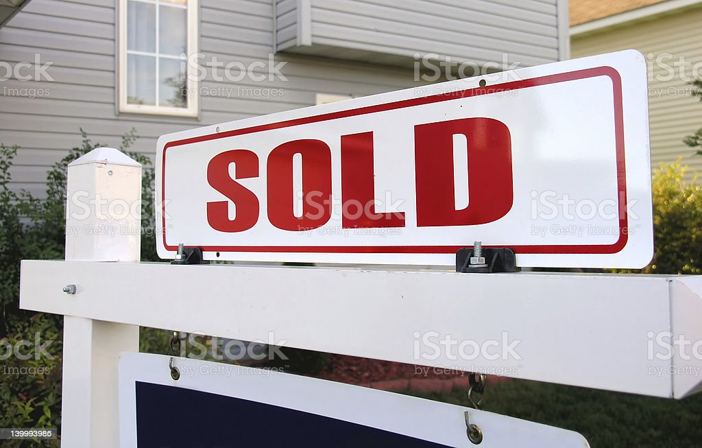 Sold! stock photo
