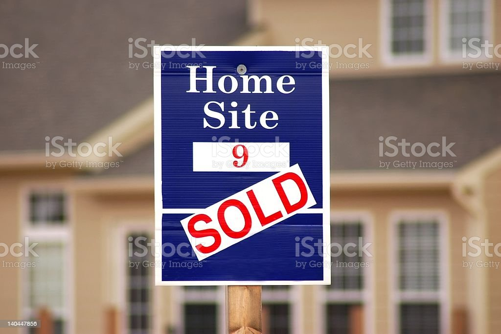Sold royalty-free stock photo