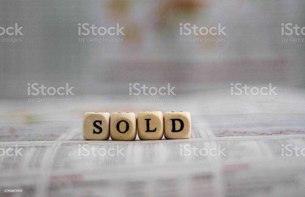 sold stock photo