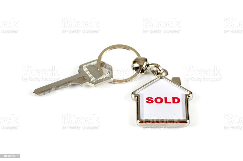 Sold property stock photo