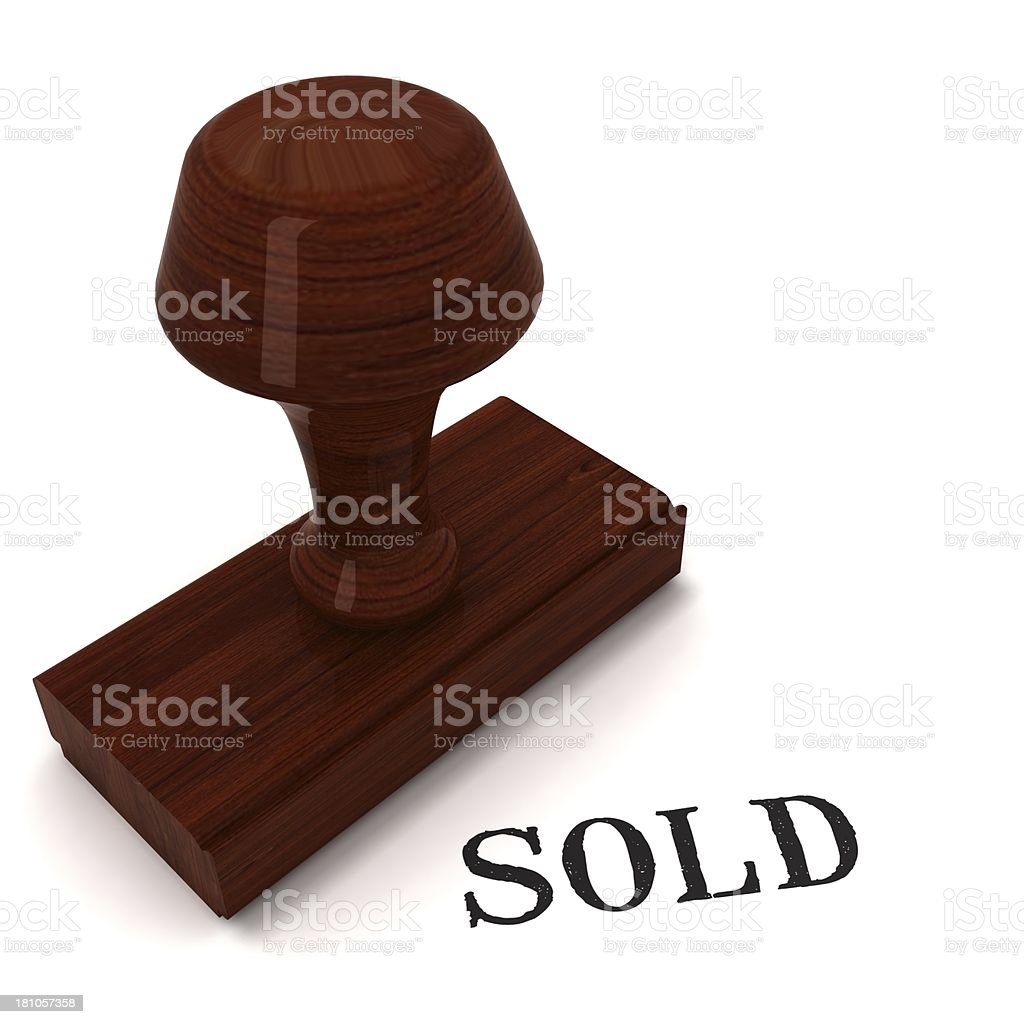 Sold - rubber stamp royalty-free stock photo