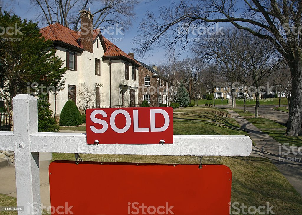 Sold sign and Home royalty-free stock photo