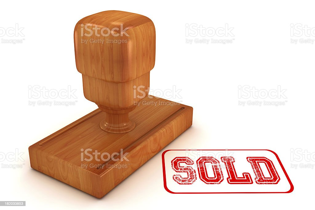 Sold Stamp royalty-free stock photo