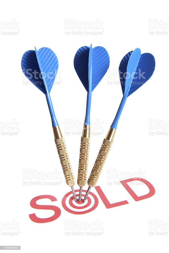 Sold Target royalty-free stock photo
