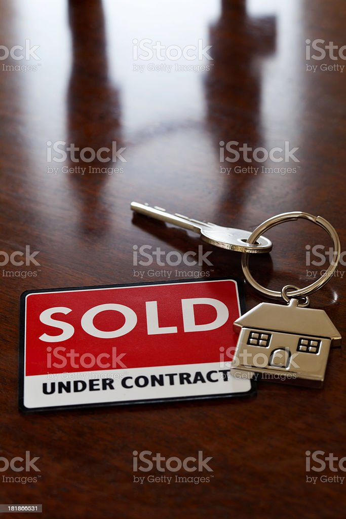 Sold Under Contract royalty-free stock photo