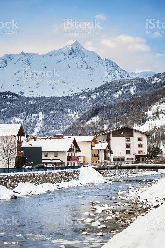 Solden, Austria royalty-free stock photo