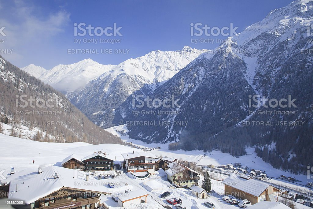 Solden from cable car royalty-free stock photo
