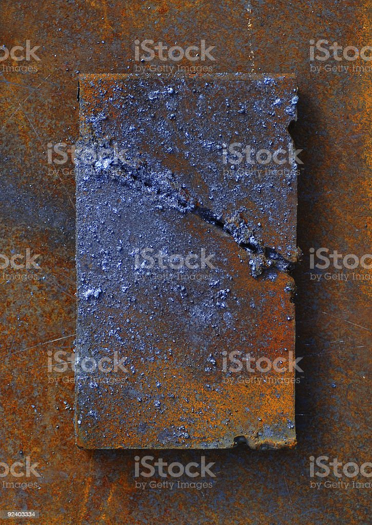 Solder and Rust royalty-free stock photo